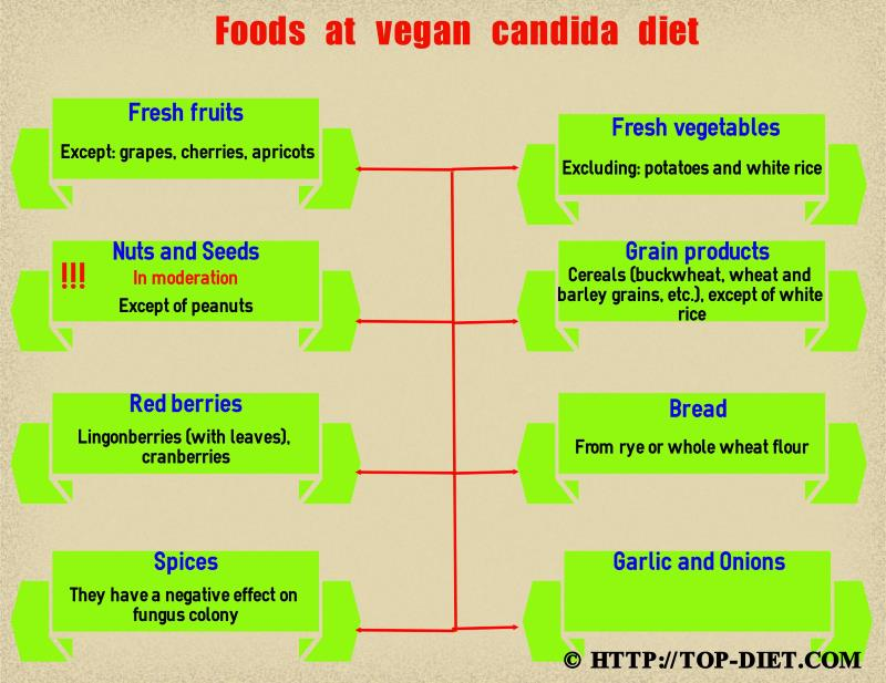 List Of Food To Eat On The Anti Candida Diet