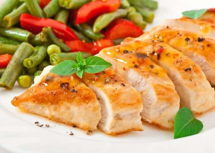 Diet on chicken breast and vegetables: menu and results